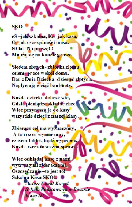 Urodzinowe Wierszyki Dla Sko Nauka I Zabawa Dla